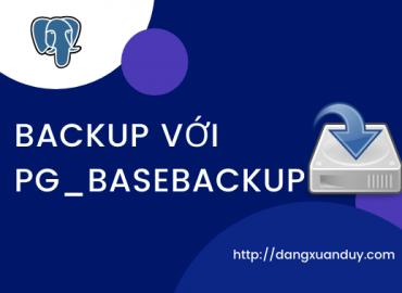 Backup với pg_basebackup