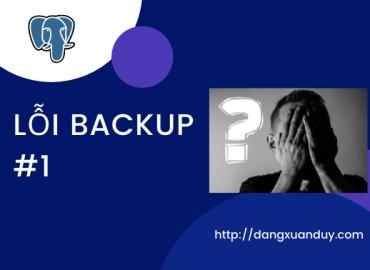 Lỗi backup khi sử dụng pg_basebackup