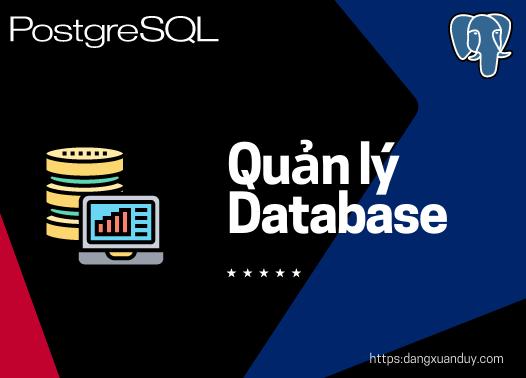 Quản lý PostgreSQL Database