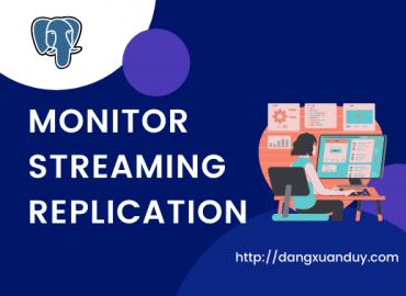 Monitor Streaming Replication trong PostgreSQL