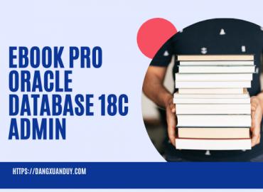 Ebook Pro Oracle Database 18c Administration